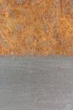 Superficie oxidada y limpia Foto de archivo