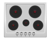Superficie per l'illustrazione di vettore della cucina elettrica Immagini Stock