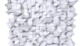Superficie poli bassa semplice 3D come griglia di cristallo Poli fondo basso geometrico molle dei poligoni grigi bianchi puri hd  illustrazione di stock