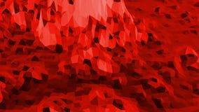 Superficie polivinílica baja roja abstracta como ambiente elegante en diseño polivinílico bajo elegante Fondo poligonal del mosai metrajes