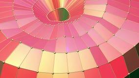 Superficie polivinílica baja roja que agita abstracta como contexto digital en diseño polivinílico bajo elegante Fondo poligonal  almacen de video