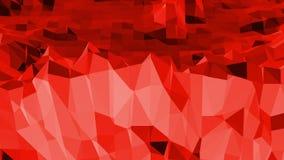 Superficie polivinílica baja roja que agita abstracta como fondo único en diseño polivinílico bajo elegante Fondo poligonal del m ilustración del vector