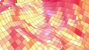 Superficie polivinílica baja roja que agita abstracta como fondo corporativo en diseño polivinílico bajo elegante Fondo poligonal ilustración del vector
