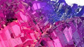 Superficie polivinílica baja simple abstracta 3D del rojo azul como contexto simple Fondo polivinílico bajo geométrico suave del  libre illustration