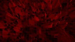 Superficie que agita polivinílica baja rojo oscuro como fondo elegante Ambiente vibrante geométrico poligonal rojo oscuro o el pu metrajes