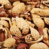 Superficie ricoperta di coperture dell'arachide Fotografie Stock Libere da Diritti
