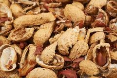 Superficie ricoperta di coperture dell'arachide Fotografie Stock