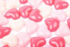 Superficie ricoperta di perle del cuore Fotografia Stock