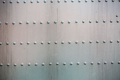 Superficie rivettata acciaio Immagine Stock