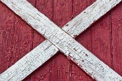 Superficie roja de madera del granero Foto de archivo libre de regalías