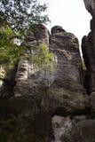 Superficie ruvida di alta parete della roccia Immagine Stock