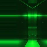 Superficie verde dell'alluminio Fondo geometrico metallico di struttura Fotografia Stock Libera da Diritti