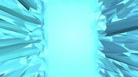 Superficie vibrante polivinílica baja azul como fondo precioso Ambiente vibrante geométrico poligonal azul o el pulsar almacen de video
