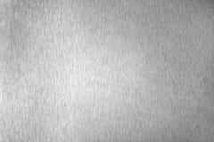 Superficie vuota brillante del metallo d'argento, fondo metallico brillante monocromatico, fine in bianco e nero spazzolata del c fotografie stock libere da diritti
