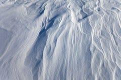 Superficie Windblown de la nieve, modelo del fondo Imagenes de archivo
