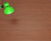 Superficie y lámpara de escritorio Imagenes de archivo