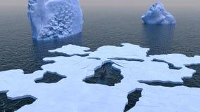 Superficies submarinas a través del hielo ártico Imagen de archivo libre de regalías