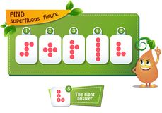 Superfluous figure circles. Educational game for kids and adults. development of logic, iq children. Task game find superfluous figure royalty free illustration