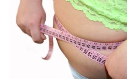 Superfluous weight-always badly. Stock Photography