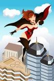 superflyghjälte royaltyfri illustrationer