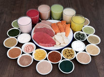 Superfood и питье для построителей тела Стоковые Изображения RF