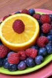 Superfood Antioxidant Fruit Plate Royalty Free Stock Photos