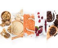 Superfood blandningskivor Arkivbild
