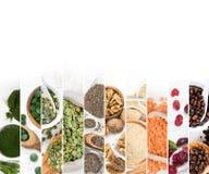 Superfood blandningskivor Arkivfoton