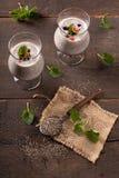 Superfood - chia种子布丁 免版税库存图片