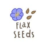 Superfood das sementes de linho Imagem de Stock