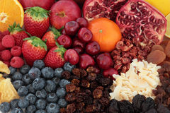 Superfood Fruit Background Royalty Free Stock Photography