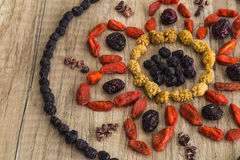 Superfood mandala Royalty Free Stock Image