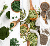Superfood Mix Slices Royalty Free Stock Photos