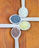 Superfood, sementes úteis fotografia de stock