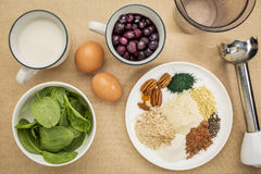 Superfood smoothie ingredients Stock Photography