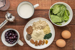 Superfood smoothie ingredients Stock Photos