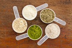 Superfood supplement powder Royalty Free Stock Image