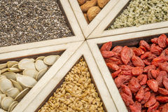 Superfood tray abstract Royalty Free Stock Image