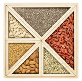 Superfood tray abstract Royalty Free Stock Photo