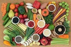 Superfood voor een Gezonde voeding Royalty-vrije Stock Afbeelding