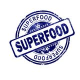 Superfood word with blue round stamp royalty free illustration