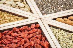 Superfood-Zusammenfassung Lizenzfreies Stockbild