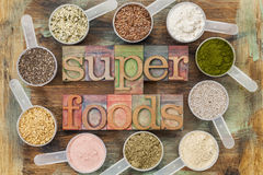 Superfoods Photographie stock