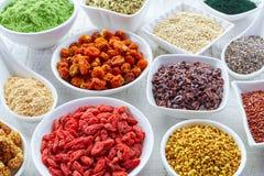 Superfoods Arkivfoto