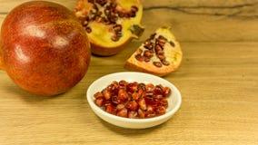 superfoods för pomegranate för makro en för cholesterol kan tätt lägre sköt frö upp arkivbilder