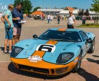 Superformance GT40老朋友每年全国老朋友天在莱利斯塔德 免版税库存照片