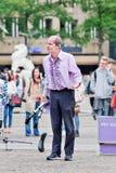 Superfrank ο εκτελεστής οδών στο τετράγωνο φραγμάτων, Άμστερνταμ, Κάτω Χώρες Στοκ φωτογραφίες με δικαίωμα ελεύθερης χρήσης