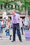 Superfrank ο εκτελεστής οδών στο τετράγωνο φραγμάτων, Άμστερνταμ, Κάτω Χώρες Στοκ Φωτογραφίες