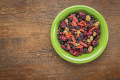Superfruit berry mix Royalty Free Stock Photography