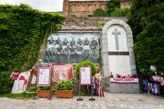 Superga bazylika, ` Torino ` futbolu Grande pomnik Obraz Stock